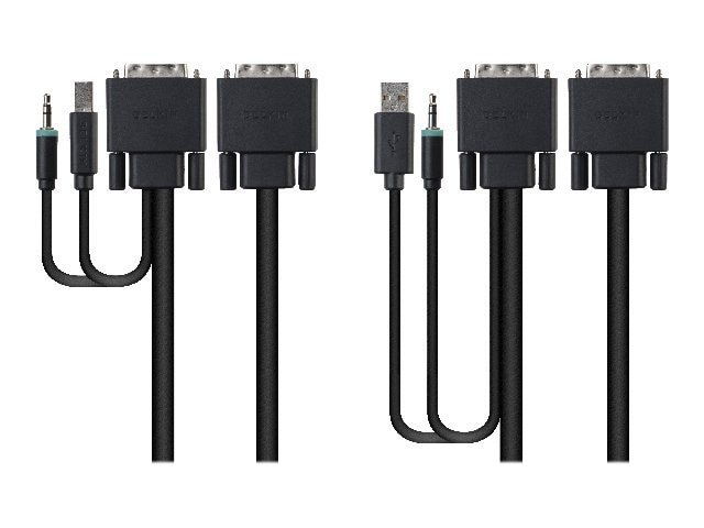Belkin Dual DVI USB Audio KVM Cable Kit - bulk packaging, F1D9014B06