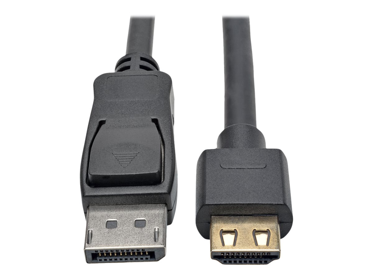 Tripp Lite DisplayPort 1.2a to HDMI M M 4Kx2K @ 60Hz Active Adapter Cable with Gripping HDMI Plug, Black, 12ft