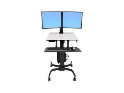 Ergotron WorkFit-C, Dual Sit-Stand Workstation, 24-214-085