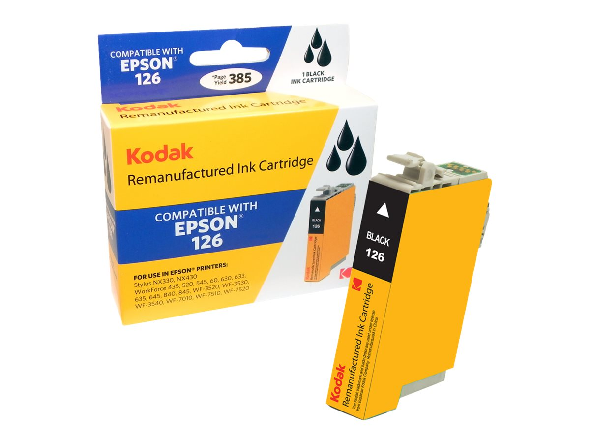 Kodak T126120 Black Ink Cartridge for Epson NX330 430, T126120-KD, 31286857, Ink Cartridges & Ink Refill Kits