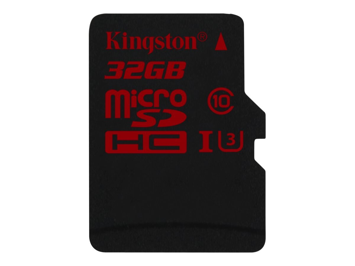 Kingston 32GB microSDHC UHS-I Flash Memory Card, Class 3 with SD Adapter, SDCA3/32GB