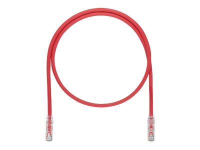 Panduit CAT6A UTP Copper Patch Cable, Red, 30ft, UTP6ASD30RD