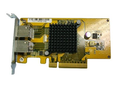 Qnap DUAL-PORT GIGABIT NETWORK EXPANSION CARD, LAN-1G2T-U, 14745986, Network Adapters & NICs