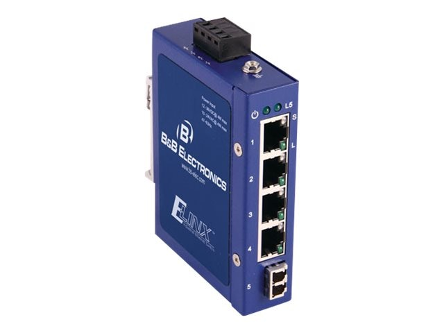 Quatech Unmanaged 1 SM LC 5-port Compact Ethernet Switch, ESW105-SL, 14487729, Network Switches