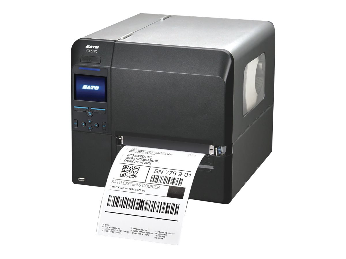 Sato CL608NX WLAN Printer w  Dispenser & Rewind, WWCL90381