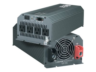 Tripp Lite PowerVerter Ultra-Compact Inverter 12V to 120VAC 1000 Watts (4) 5-15R Outlets, PV1000HF, 415764, Power Converters