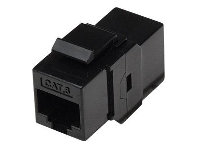 Intellinet CAT6 RJ-45 F F Inline Keystone Coupler, Black, 504898