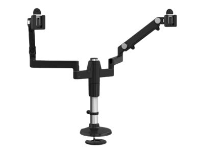 Humanscale Mflex Arm with Dual Monitor Support and Bolt Mount, Black