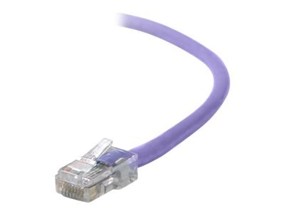 Belkin Cat6 Non-Booted UTP Patch Cable, Purple, 1ft, A3L980-01-PUR