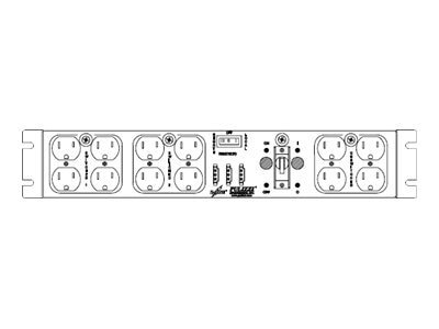 Eaton RE ePDU 110-125V 12A 2U 5-15P Input 9ft Cord (12) 5-15R Outlets 1P 15A CB, PC125-A