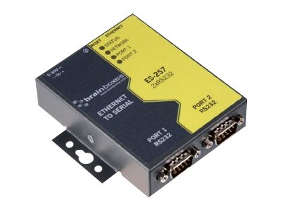 Brainboxes 2 Port RS232 Ethernet to Serial Adapter, ES-257, 14488983, Adapters & Port Converters