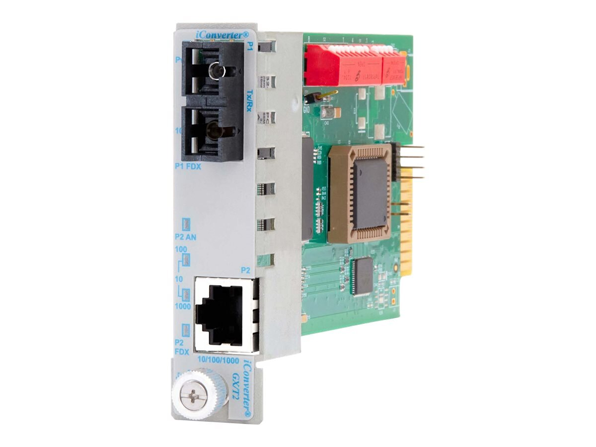 Omnitron iConverter 10 100 1000 Gigabit Ethernet Fiber SC MM 550M