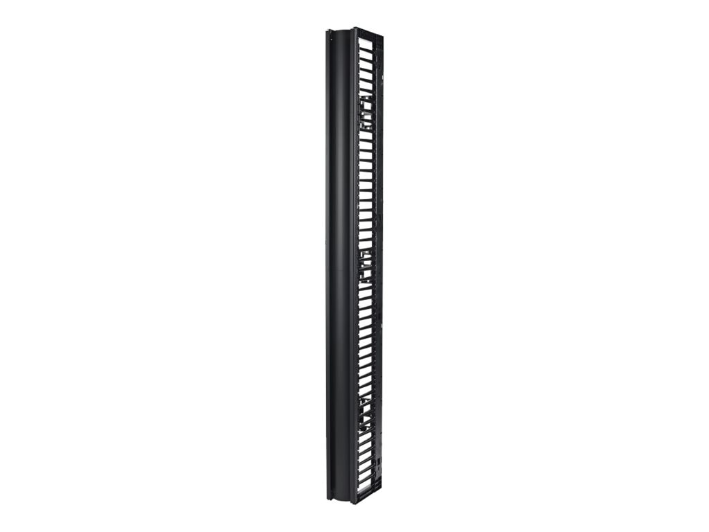 APC Valueline Vertical Cable Manager for 2 & 4-post Racks, 84h x 6w, Single-sided with Door, AR8715