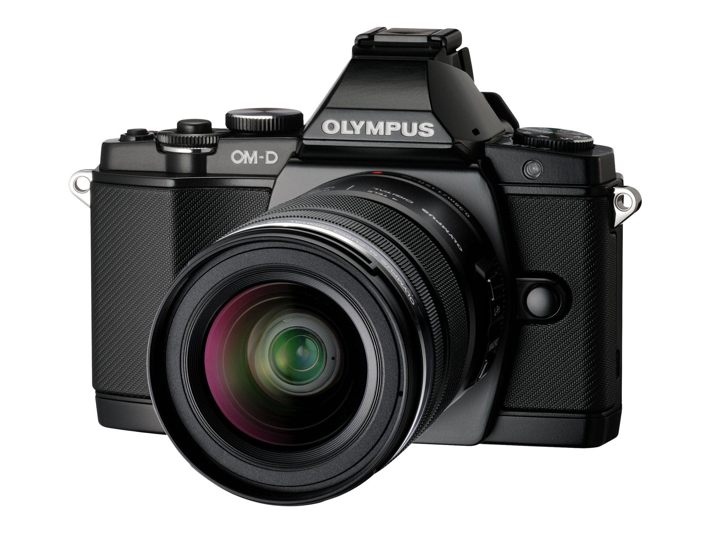 Olympus OM-D E-M5 Micro Four Thirds Digital Camera with 14-42mm Lens, Black, V204041BU000, 13819912, Cameras - Digital - SLR