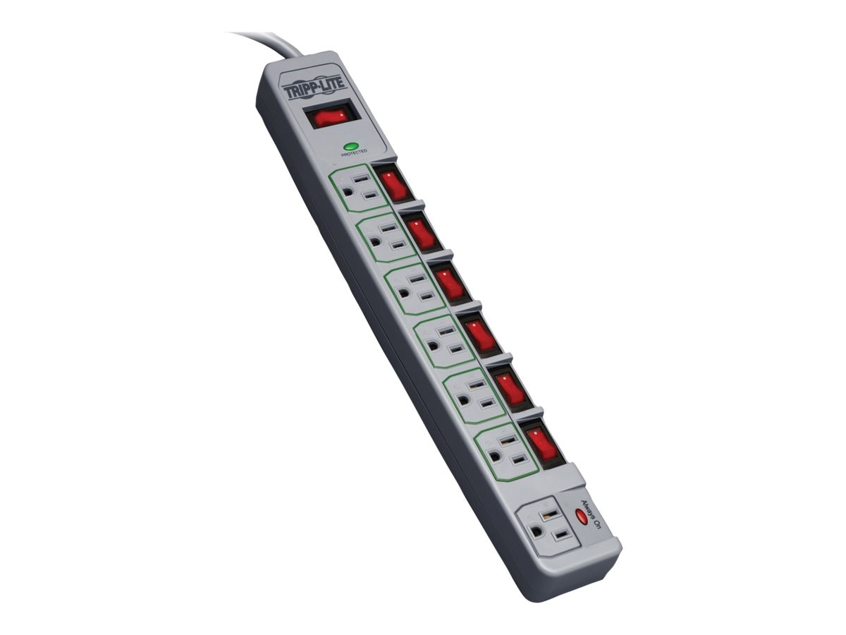 Tripp Lite ECO-SURGE Home Business Surge Suppressor, 1080 Joules, (6) Eco Outlets, 6ft Cord, TLP76MSG, 13420645, Surge Suppressors
