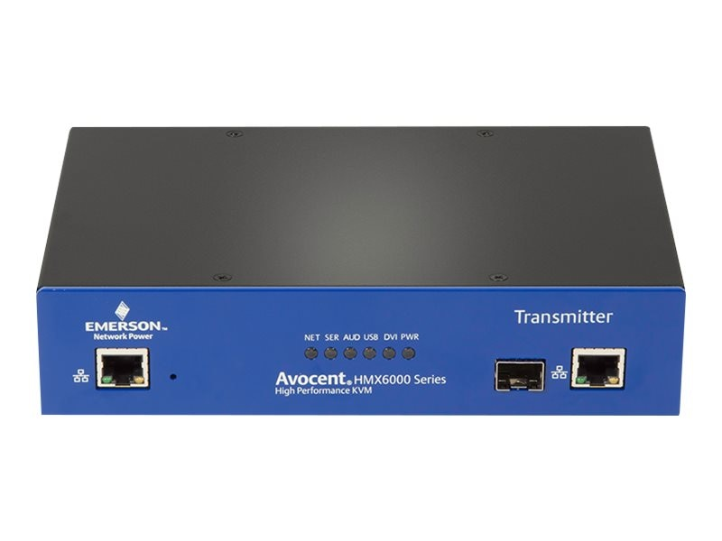 Avocent HMX 6200 RX Dual DVI-D QSXGA USB Audio SFP KVM Switch