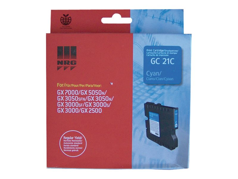 Ricoh Cyan GC21C Ink Cartridge, 405533