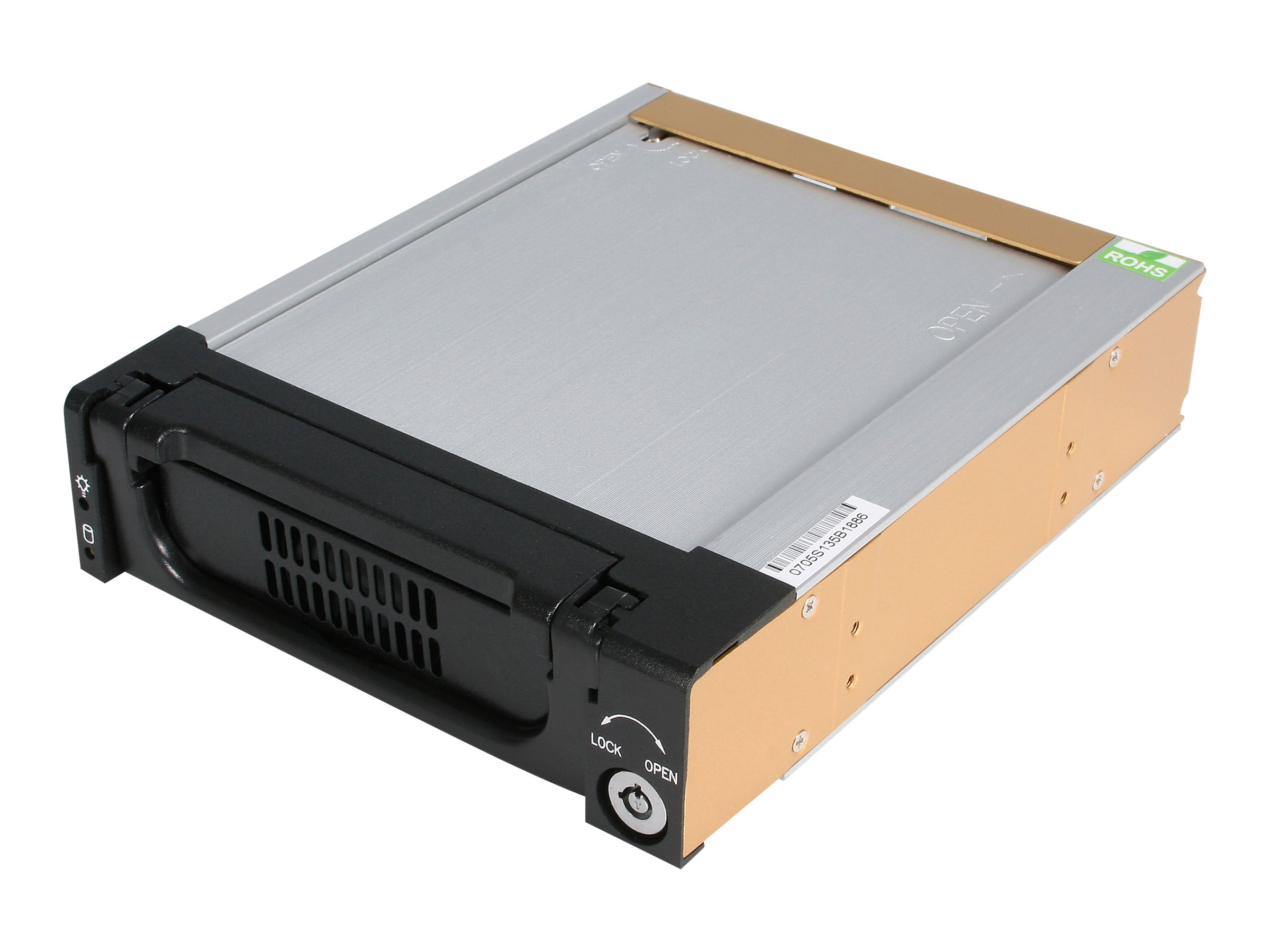 StarTech.com Black Aluminum 5.25in Rugged SATA Hard Drive Mobile Storage Rack Drawer, DRW150SATBK
