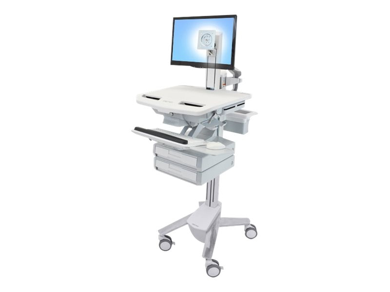 Ergotron StyleView Cart with LCD Pivot, 2 Drawers, SV43-1320-0, 18024730, Computer Carts - Medical