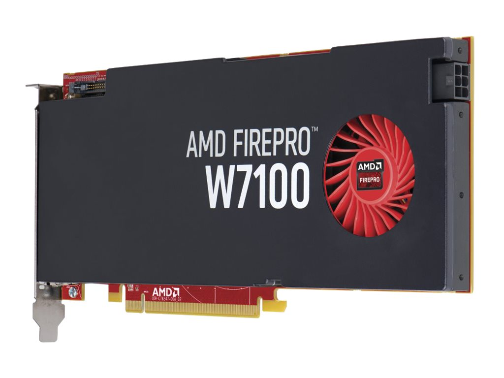 HP AMD FirePro W7100 PCIe 3.0 x16 Graphics Card, 8GB GDDR5, J3G93AA