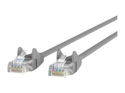 Belkin Cat5e Patch Cable, Gray, Snagless, 7ft
