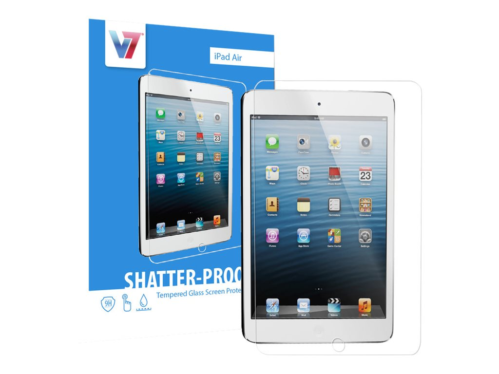 V7 Shatter-Proof Tempered Glass for iPad Air