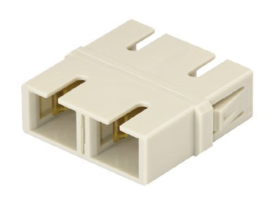 Panduit SC-SC Multimode Duplex Fiber Optic Adapter, Ivory, 50-Pack