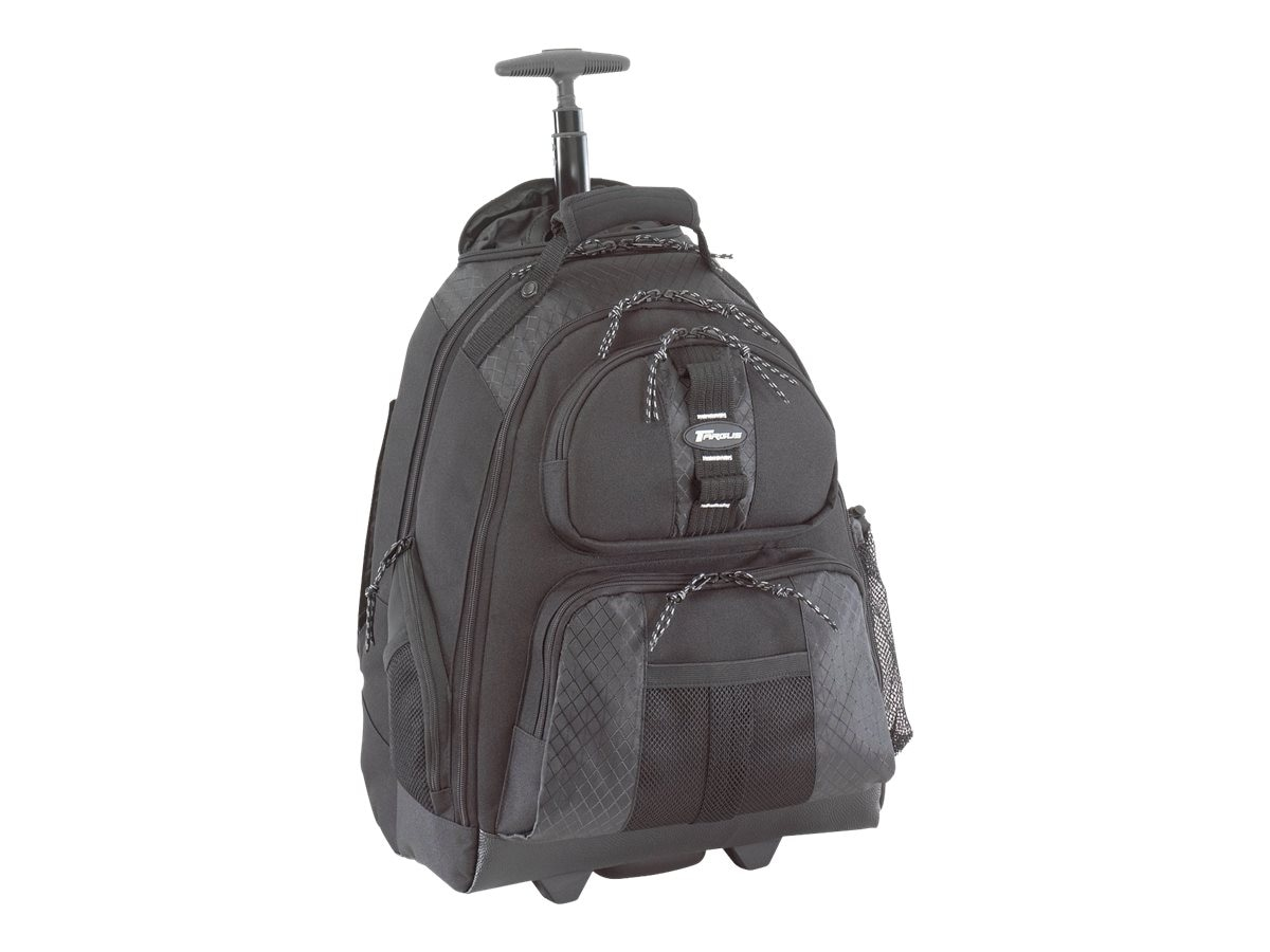"Targus 15.4"" Rolling Laptop Backpack, Black, TSB700, 5210023, Carrying Cases - Notebook"