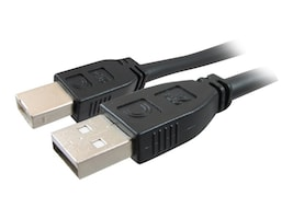 Comprehensive Pro AV IT Active USB A to B M M Cable, Black, 25ft, USB2-AB-25PROA, 16966555, Cables