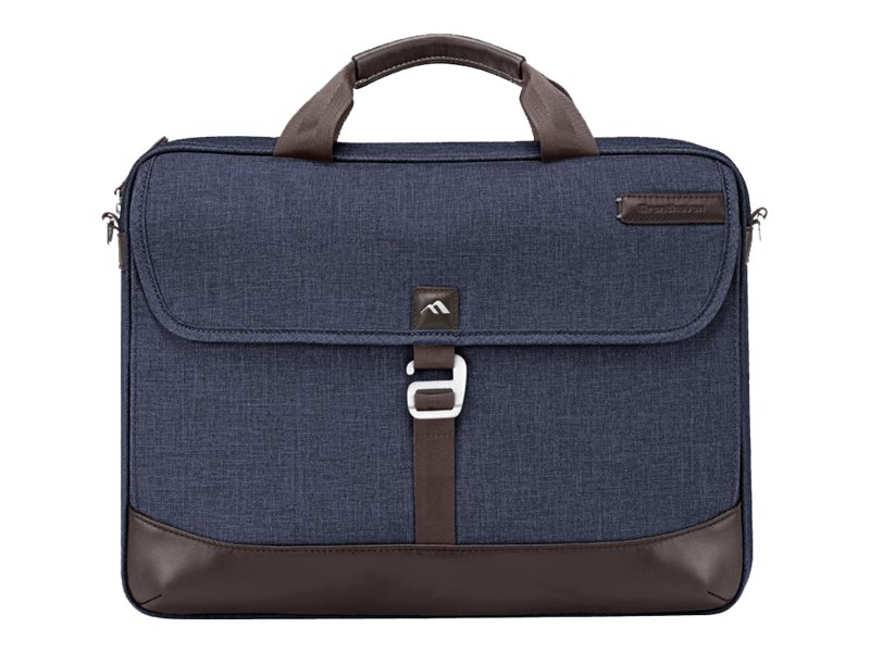 Brenthaven Collins Slim Brief for MacBook 15.4, Indigo Chambray, 1911, 18954304, Carrying Cases - Notebook