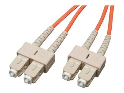 Tripp Lite Fiber Optic Patch Cable, SC-SC, 62.5 125, Duplex Multimode, 3ft, N306-003