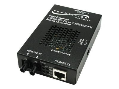 Transition 100BTX To 100BFX SC MM 2KM SA Media Converter, E-100BTX-FX-05SC-NA, 16049141, Network Transceivers