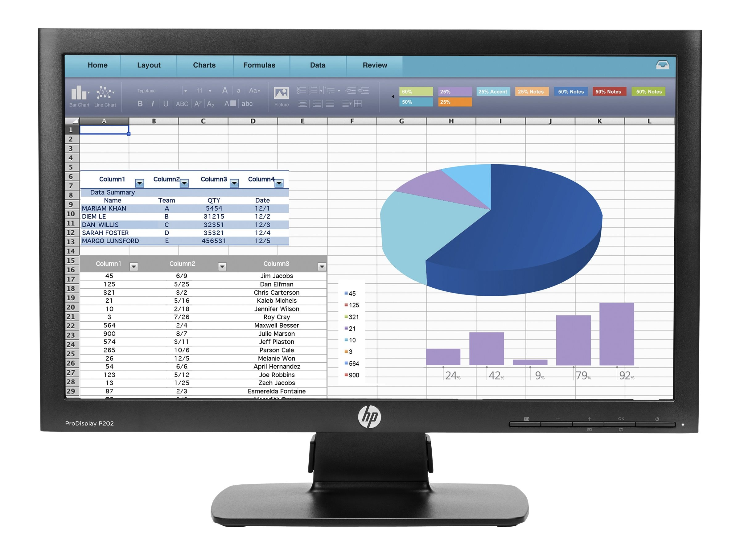 HP 20 P202 LED-LCD Display, Black, K7X27A8#ABA, 18954769, Monitors - LED-LCD