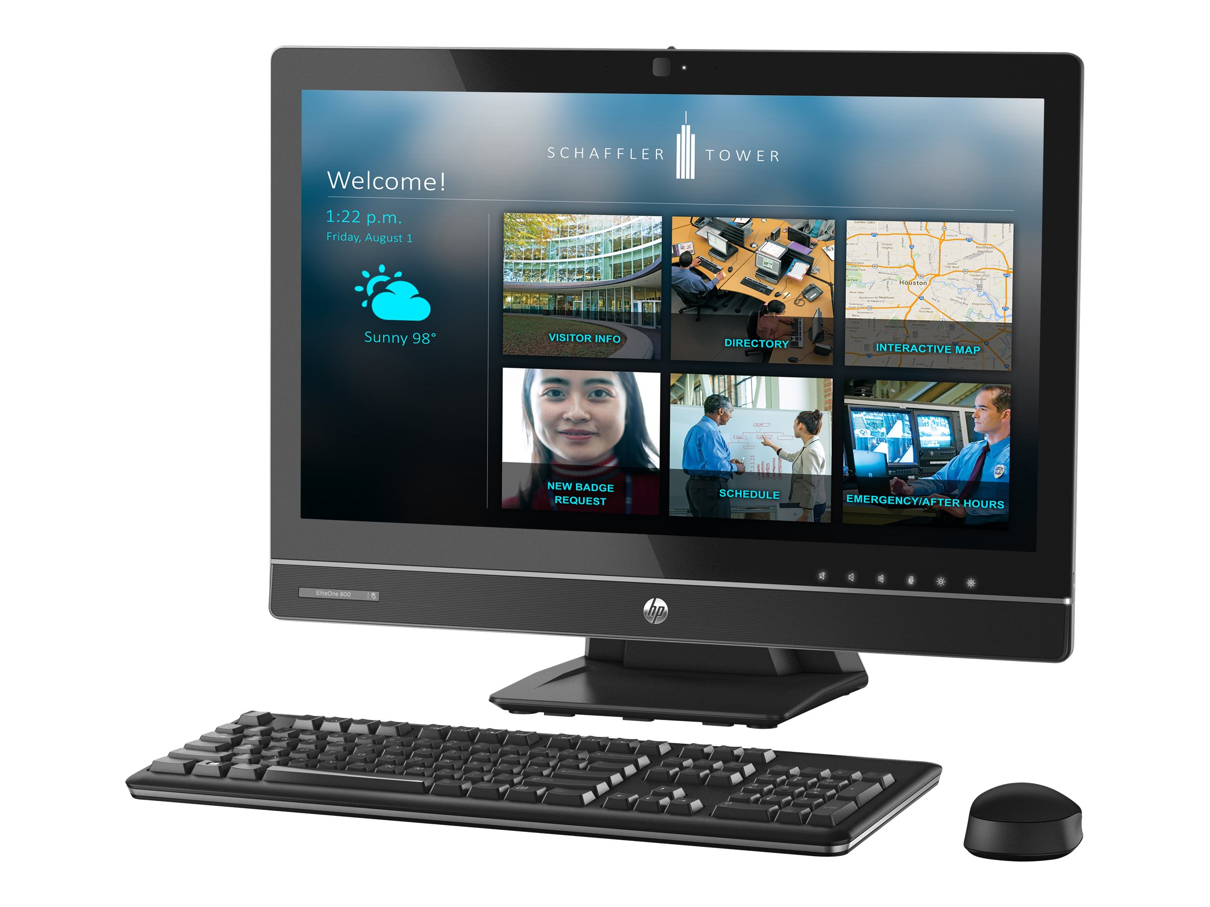 HP EliteOne 800 G1 AIO Core i7-4790S 3.2GHz 8GB 1TB SSHD DVD-RW GbE abgn WC W7P64-W8.1P, K1K41UT#ABA, 17693181, Desktops - All-in-One