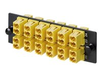 Panduit 12 Position Keyed LC Fabric Adapter Panel (D-Yellow)