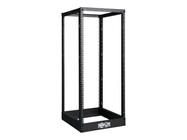 Tripp Lite SmartRack Open Frame Rack, 25U, 4-post, Black, SR4POST25, 12540864, Racks & Cabinets