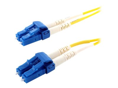 Axiom LC-LC 9 125 OS2 Singlemode Duplex Fiber, Yellow, 90m, LCLCSD9Y-90M-AX, 31895775, Cables
