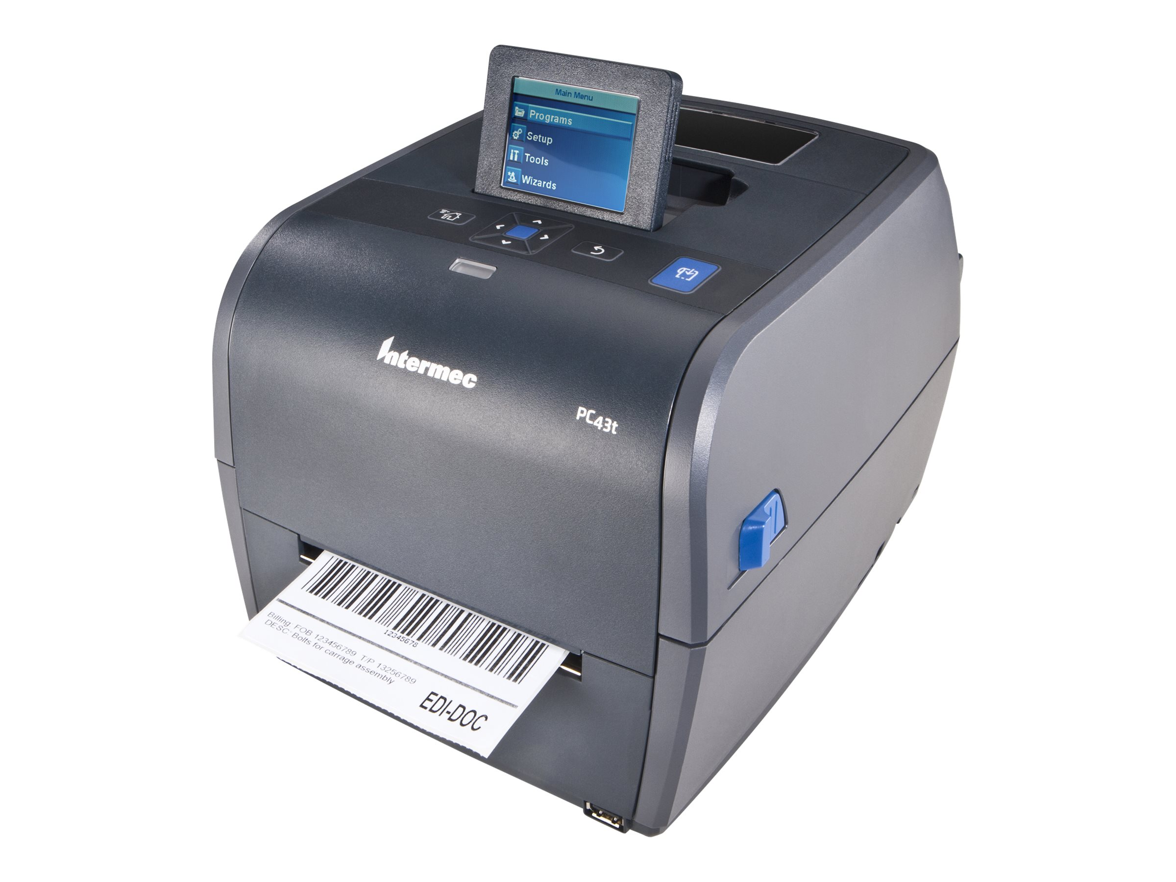 Intermec PC43T TT 203dpi UHF RFID Printer w  Power Cord & Dispenser (Latin Asian), PC43TA101NA201, 13817933, Printers - Label