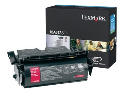 Lexmark Black High Yield Print Cartridge for Lexmark T520 & T522 Series Printers, 12A6735, 240388, Toner and Imaging Components