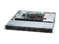 Supermicro SuperChassis 813MTQ-R400CB 1U RM, 4x 3.5 HS SAS 6Gb s or SATA, 400W RPS, Black, CSE-813MTQ-R400CB, 12824728, Cases - Systems/Servers