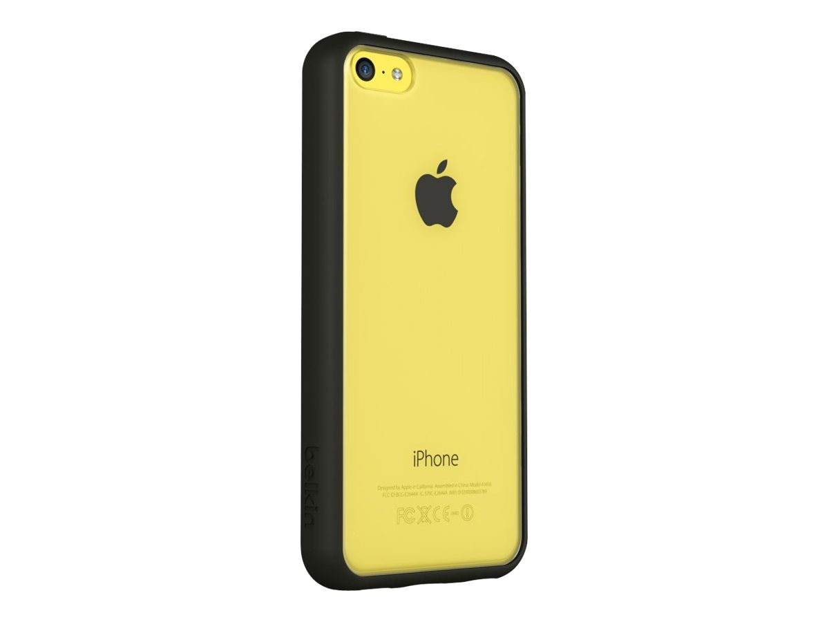 Belkin View Case for iPhone 5C, Black Yellow, F8W372BTC00, 16282225, Carrying Cases - Phones/PDAs