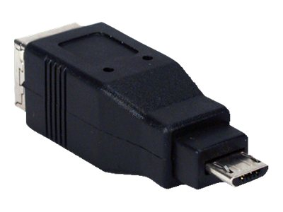 QVS USB High Speed OTG Adapter, MicroUSB to USB Type B (M-F), CC2218C-MF, 14506336, Adapters & Port Converters