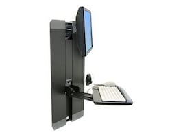 Ergotron StyleView Vertical Lift Mount for LCD and Keyboard, Black, 60-609-195, 12023752, Wall Stations