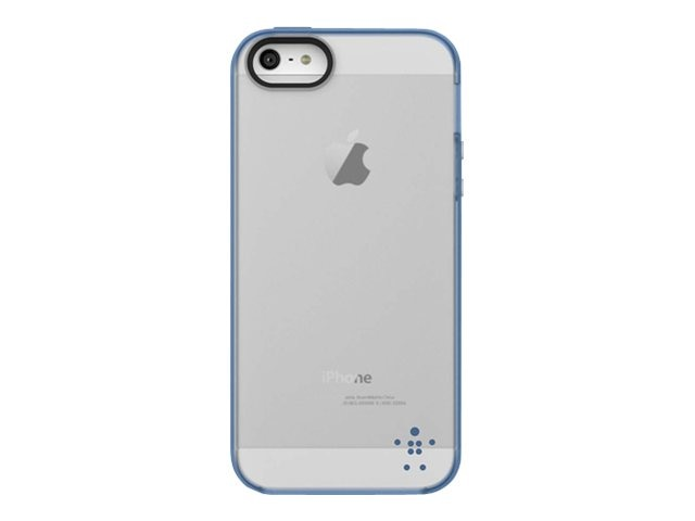 Belkin Grip Candy Sheer Case, Civic Blue for iPhone 5, F8W138TTC11, 14860917, Carrying Cases - Phones/PDAs