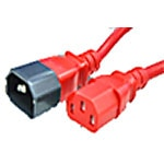 APC Power Cord C-13 to C-14, 15A, 250V, 14 3, SJT, 5ft, Red