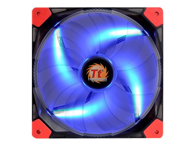 Thermaltake Luna 14 Blue LED Silent Case Fan, 140x140x25mm, CL-F021-PL14BU-A, 17827101, Cooling Systems/Fans