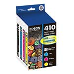Epson Black & Color 410 Ink Cartridges (Cyan, Magenta, Yellow & Photo Black 4-Pack), T410520, 30915308, Toner and Imaging Components