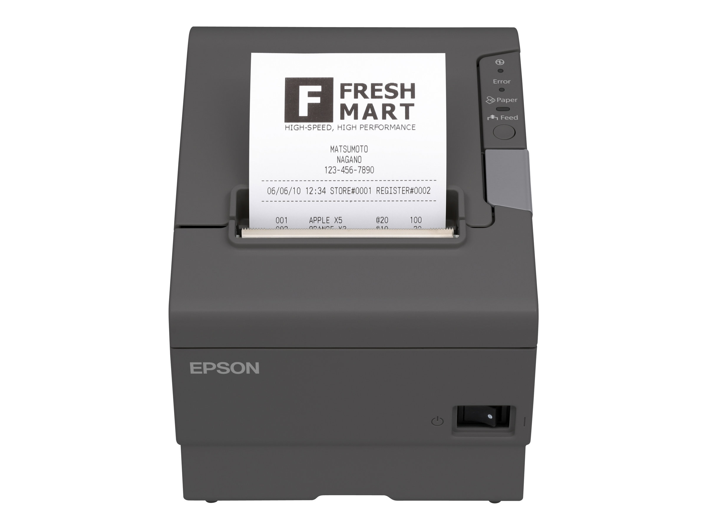 Epson TM-T88V-690 USB DB-9 + USB Edge Printer w  Power Supply, C31CA85A8690