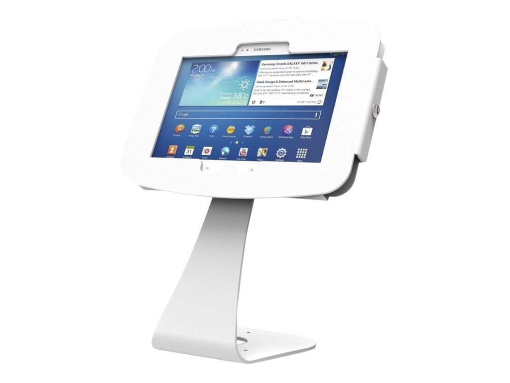 Compulocks Swan Galaxy Enclosure Kiosk, White, for Galaxy Tab 7 8 10.1, Galaxy Note 10.1
