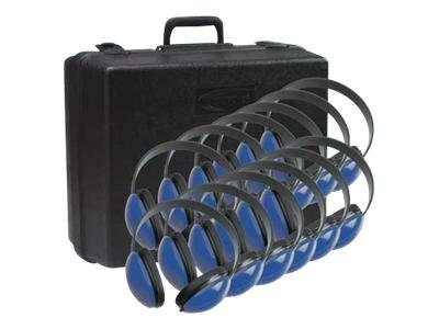 Stereo Headphones w  Case via ErgoGuys - Blue (12-pack), 2800BL-12, 17590431, Headsets (w/ microphone)